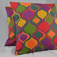 "Bright Color Pillow Cover, Boho Pillow Cover, Square Pillow, Home Decor Pillow, Throw Pillow, Cushion Cover - 16"" - PC21"