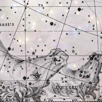 Constellation, Pegasus, Metallic Print, Astronomy, Antique Art, Astronomy Print, Constellation Art