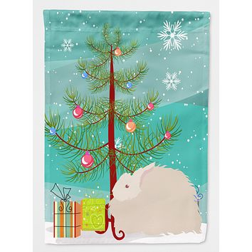 Fluffy Angora Rabbit Christmas Flag Garden Size BB9326GF
