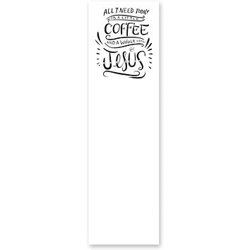 All I Need Today Is A Little Coffee And A Whole Lotta Jesus Magnetic List Notepad