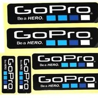 NEW 6 Piece Lot Gopro Hero 4 3+ STICKERS Go Pro Accessories Car Motorcycle Decal