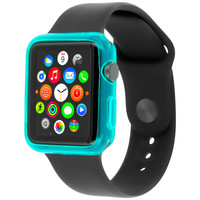 Baby Blue TPU Rubber Case Cover for Apple Watch 38mm