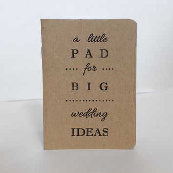 Wedding Notebook, Kraft Paper Notepad