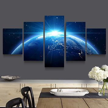 5 Pcs/Set Theme Half-Conscious Space Canvas Printings Modern Home Living Room Decoration Poster Picture Art Wall  Frame