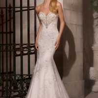 Mori Lee 2724 Lace Mermaid Wedding Dress
