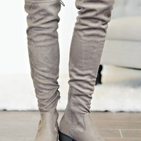 *  Alexia Knee High Boots : Taupe