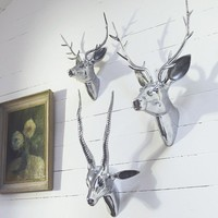 Deer  Stag Heads With Antlers