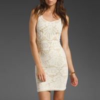 Free People Seamless Medallion Sweetheart Slip in Turtle Dove Combo from REVOLVEclothing.com
