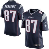 Men's New England Patriots Rob Gronkowski Nike White Super Bowl LI Bound Game Jersey