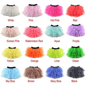 652e140824 Rushed Ribbons New Arrival Girls Tutu Skirts Kids Baby Fashion S