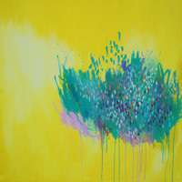 Larissa Yellow Abstract Painting On Canvas