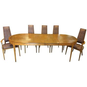 Mid Century Lane Co Walnut Dining Table & 6 Chairs