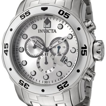 Invicta Pro-Diver Quartz Chronograph Silver Dial 0071 Men's Watch