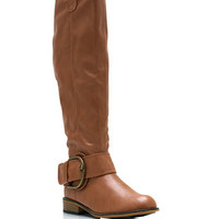 Big-Deal-Buckled-Riding-Boots BLACK BROWN CHESTNUT TAUPE - GoJane.com