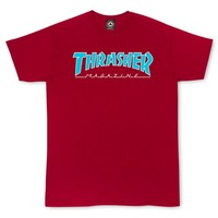 Thrasher Magazine Shop - Outlined T-Shirt Cardinal Red