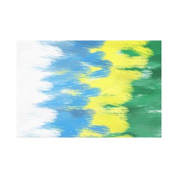 Brazil Colors Art Canvas Painting