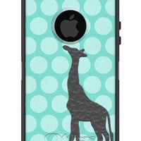 100% Genuine OTTERBOX COMMUTER for iPhone 5 and 5S Giraffe Jungle Animal Polka Kids Phone Case Hot Pink