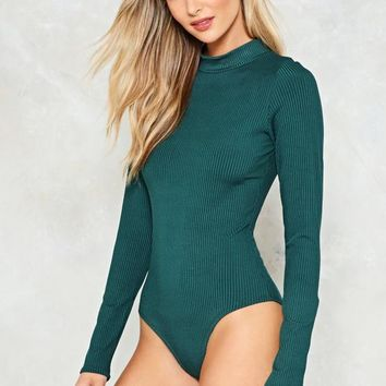 Such a High Roller Ribbed Bodysuit