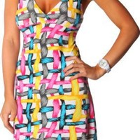 Alki`i Rope Print Casual Beach Evening Party Sun Dress