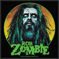 Rob Zombie Men's Zombie Face Woven Patch Black