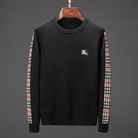 Boys & Men Burberry Fashion Casual Top Sweater Pullover Knitwear