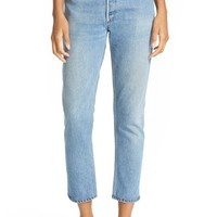 Re/Done Reconstructed High Rise Ankle Crop Jeans | Nordstrom