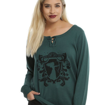 Disney Brave Merida Lace-Up Neck Girls Pullover Sweater Plus Size
