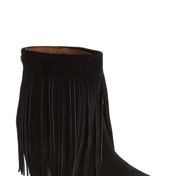 Women's Koolaburra 'Zarin' Fringe Wedge Bootie,