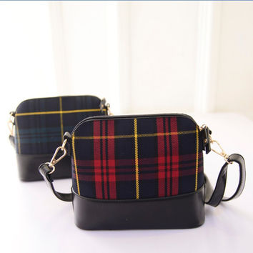Stripes Plaid Tassels Shoulder Bags Vintage Messenger Bags [6581082119]