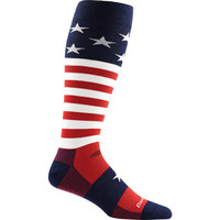 Darn Tough Merino Wool Captain America Ultra-Light Ski Socks - Men's Stars And Stripes,