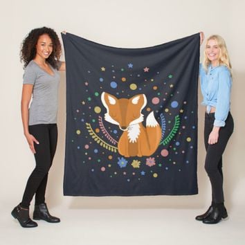 Cute Fox Fleece Blanket