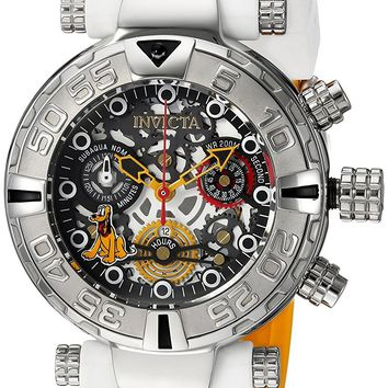 Invicta 24519 Women's Disney Limited Edition Quartz Stainless Steel and Silicone Casual White Watch