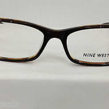 Nine West 418 Color 0FD6 Brown Plastic Eyeglasses Frame NV418 52mm 15mm 135mm