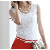 Vintage Sleeveless Lace Top