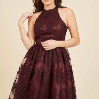Distinguished Decadence Lace Dress in Wine | Mod Retro Vintage Dresses | ModCloth.com