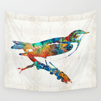 Colorful Bird Art - Sweet Song - By Sharon Cummings Wall Tapestry by Sharon Cummings