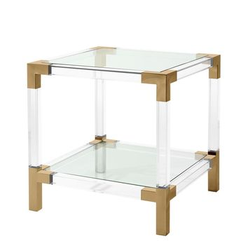 Clear Glass Side Table | Eichholtz Royalton