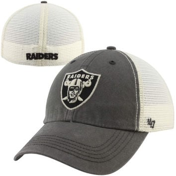 47 Brand Oakland Raiders Caprock Canyon Flex Hat - Natural/Charcoal