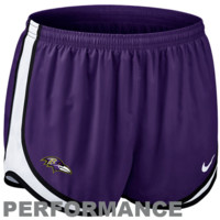 Nike Baltimore Ravens Women's Tempo Performance Running Shorts - Purple