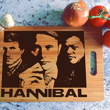 ikb609 Personalized Cutting Board Hannibal TV series fan gift