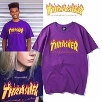 ABSPBEST Thrasher Purple T-shirt