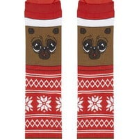 3D Hat Pug Socks - Red