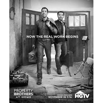 Property Brothers poster Metal Sign Wall Art 8in x 12in Black and White