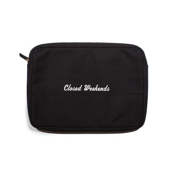 "13"" Laptop Pouch - Closed Weekends"