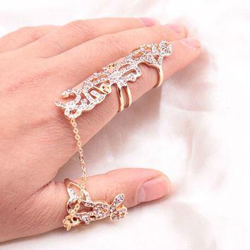 Shiny Jewelry Gift New Arrival Stylish Strong Character Hollow Out Adjustable Ring [6573103751]