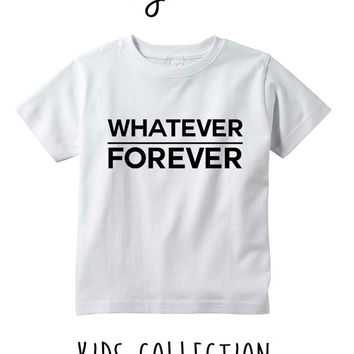 Whatever Forever Heather Grey / White Toddler Kids T Shirt Clothes Gift