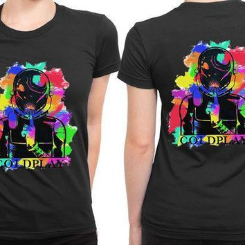Coldplay Abstract Colour 2 Sided Womens T Shirt
