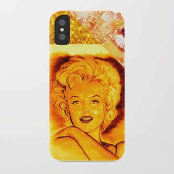 Diamonds Are a Girls Best Friends iPhone Case by GittaG74
