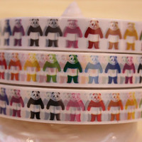 Deco Tape Adhesive Stickers  Colorful panda bear by charmstore
