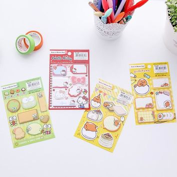 Sale Kawaii memo stationery Hello KT Gudetama Planner Self-Adhesive N times stickers Sticky Notes Scrapbooking Office supplies